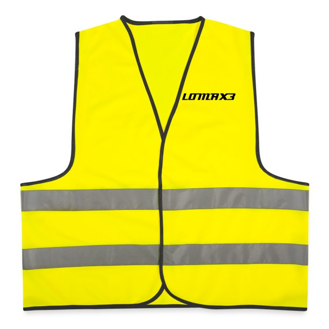 "Lomax³ Hi-Viz Vest  "" OVER F**KING HERE"""