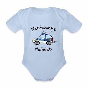 Nachwuchs Polizist Baby Body kurz - Baby Bio-Kurzarm-Body