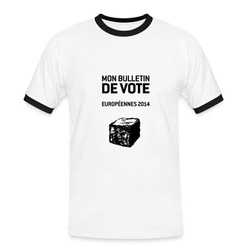 T-SHIRT contraste homme européennes 2014 - T-shirt contrasté Homme