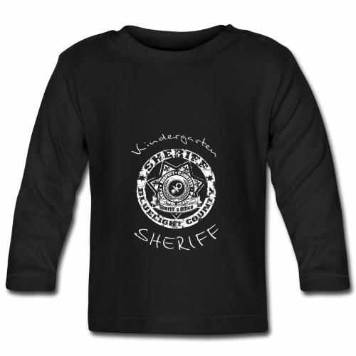 Kindergarten Sheriff Baby Langarmshirt - Baby Langarmshirt