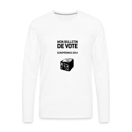 T-SHIRT premium homme manches longues européennes 2014 - T-shirt manches longues Premium Homme