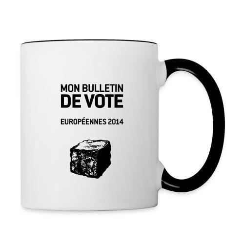 MUG bicolore européennes 2014 - Mug contrasté