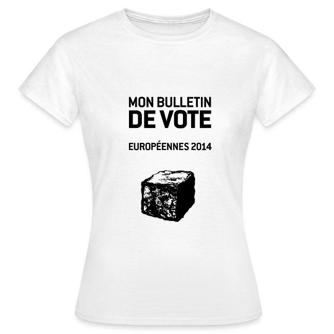 T-SHIRT standard femme européennes 2014