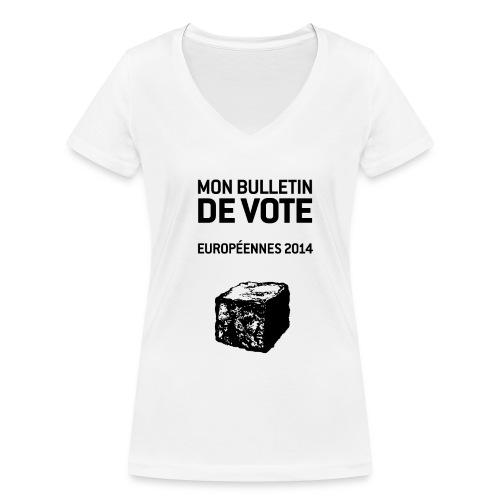 T-SHIRT femme col V européennes 2014 - T-shirt bio col V Stanley & Stella Femme