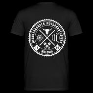 T-Shirts ~ Männer T-Shirt ~ Biker Motiv T-Shirt schwarz Rocker Style Motorrad Oldschool