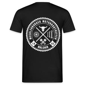 Biker Motiv T-Shirt schwarz Rocker Style Motorrad Oldschool - Männer T-Shirt