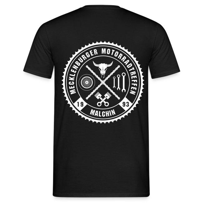 Biker Motiv T-Shirt schwarz Rocker Style Motorrad Oldschool