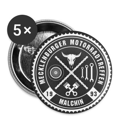 Biker Pins Anstecker für Motorradfahrer - Buttons klein 25 mm (5er Pack)