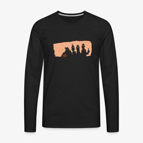 HERR LERbS: Rocker (Illustration: Jan Bintakies) - Männer Premium Langarmshirt