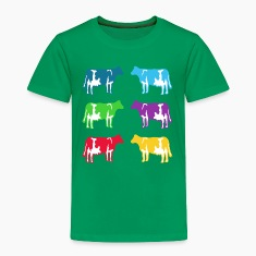 cow cows coloured  Shirts