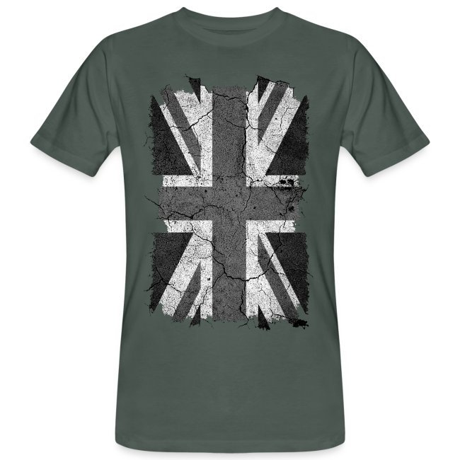 And Jack Men's White T ShirtBio Flag Uk Organic Grunge Black Union Homme MVSpjLzGqU