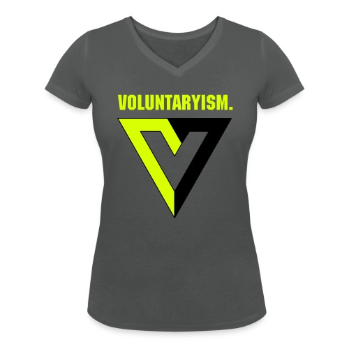 Voluntaryism, dame t-shirt - Women's Organic V-Neck T-Shirt by Stanley & Stella