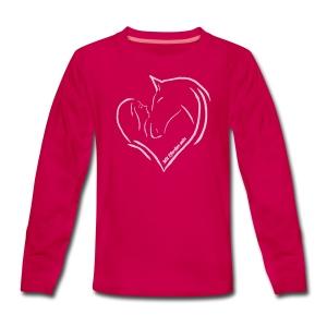 MPS Heart - Pink in Pink Teen_Longsleeve - Teenager Premium Langarmshirt