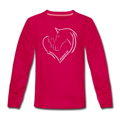 MPS Heart - Pink in Pink Teen_Longsleeve - Teenager Premium Langarmshirt