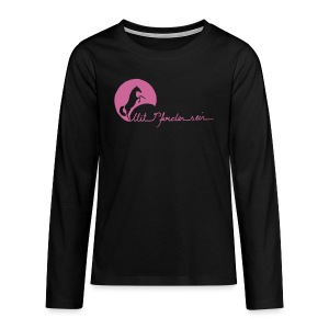 MPS Schriftzug + Energy - Pink Glitter Teens (Front- and Backprint) - Teenager Premium Langarmshirt