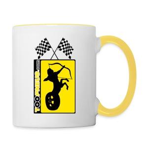 Mug jaune Café Toopneus - Tasse bicolore