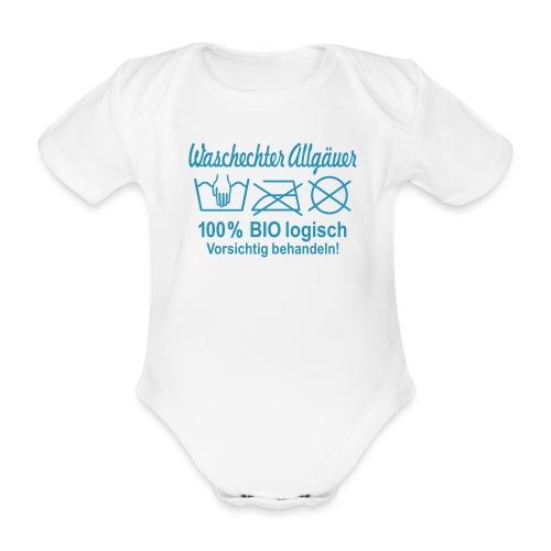 Waschechter Allgäuer, Allgäu, Bio, lustig, Spruch - Baby Bio-Kurzarm-Body