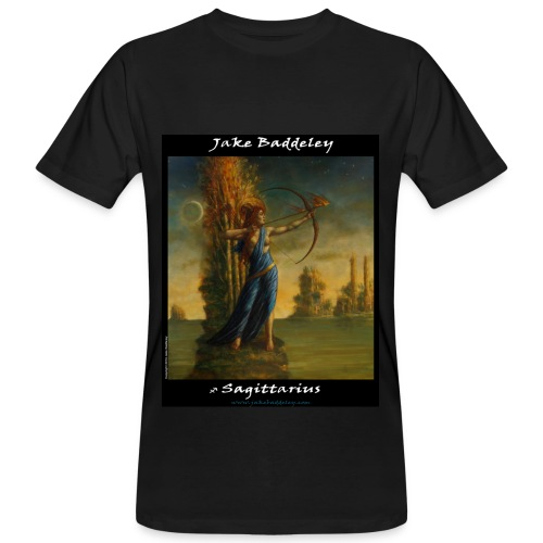 Jake Baddeley - Sagittarius (black) - Men's Organic T-Shirt