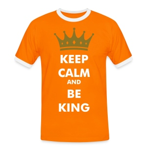 Keep Calm and Be King - Mannen contrastshirt