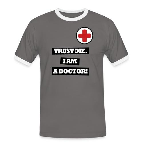 TRUST ME. I AM A DOCTOR! - Herre kontrast-T-shirt