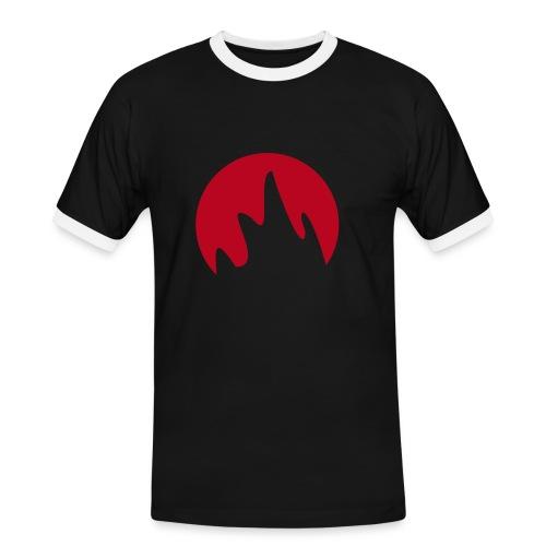 Flamme - Männer Kontrast-T-Shirt
