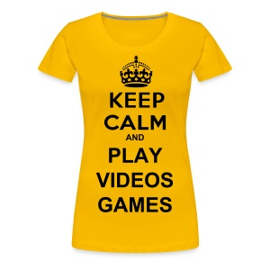 Play Videos Games - T-shirt Premium Femme