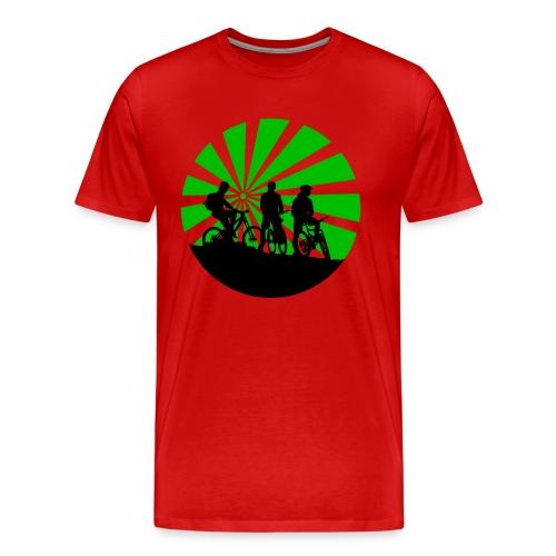 M-t-shirt cirkel groen - Mannen Premium T-shirt