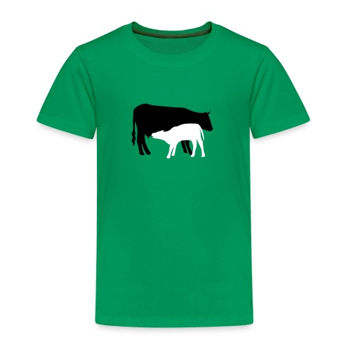 kuh und kalb bunt - Kinder Premium T-Shirt