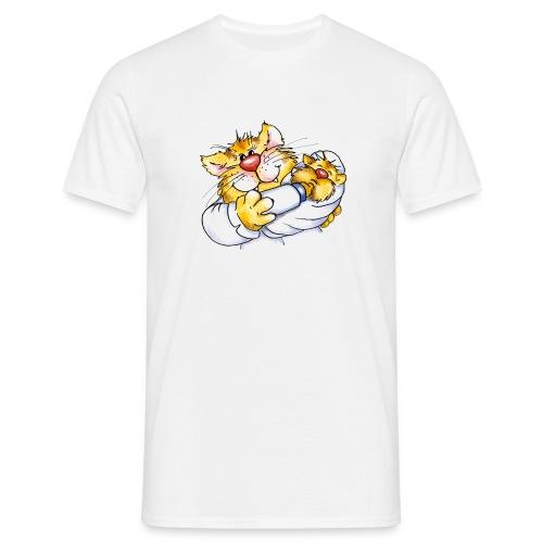Krankenschwester Mieze T-Shirt - Männer T-Shirt