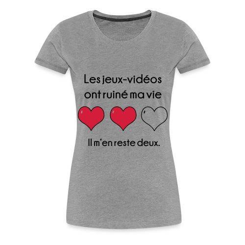 Les jeux-vidéos ont... - T-shirt Premium Femme
