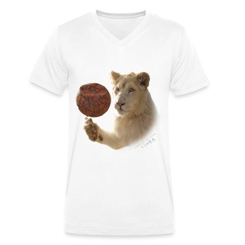 T-Shirt Homme V Timba ballon - T-shirt bio col V Stanley & Stella Homme