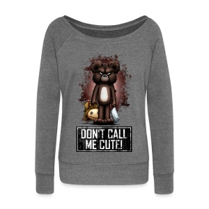 Teddy - Don't Call Me Cute (Color) Gensere - Damegenser med båthals fra Bella