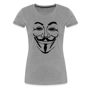 Anonymous simple masque - T-shirt Premium Femme