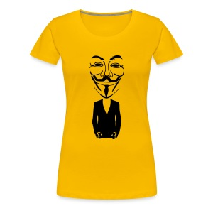 Anonymous gros masque - T-shirt Premium Femme