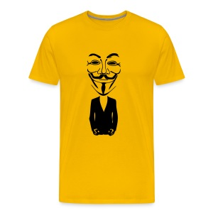 Anonymous gros masque - T-shirt Premium Homme