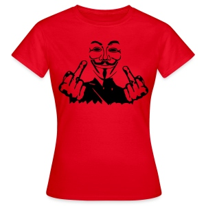 Anonymous costume double fuck - T-shirt Femme