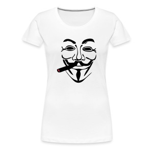Anonymous cigare seul - T-shirt Premium Femme