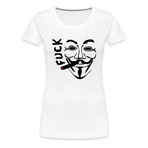 Anonymous cigare fume fuck - T-shirt Premium Femme