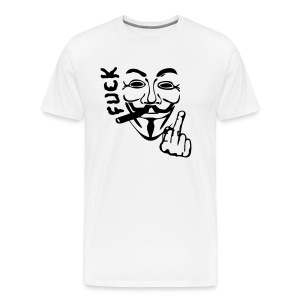 Anonymous fume cigard fuck - T-shirt Premium Homme