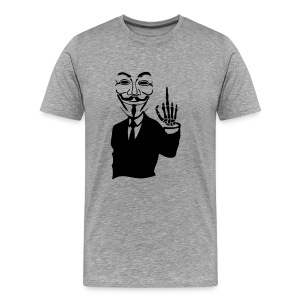Anonymous simple fuck doigt squelette - T-shirt Premium Homme
