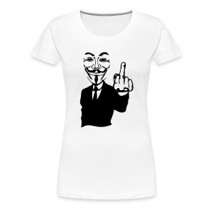 Anonymous simple doigt fuck - T-shirt Premium Femme