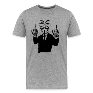 Anonymous double fuck squelette - T-shirt Premium Homme