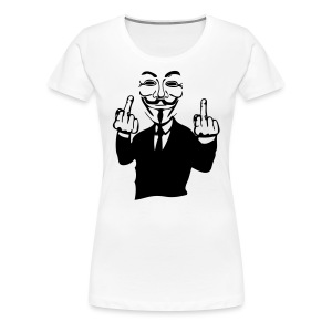 Anonymous double fuck - T-shirt Premium Femme