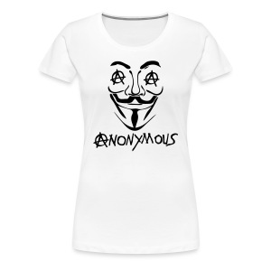 Anonymous  Le A en logo Anarchy - T-shirt Premium Femme