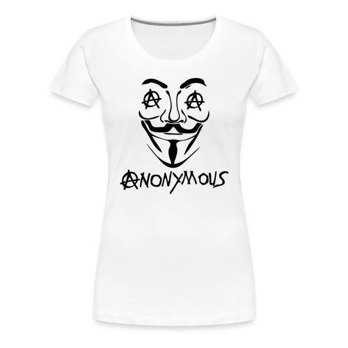 Anonymous  Le A en logo Anarchy - T-shirt Premium Femme