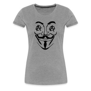 Anonymous oeil anarchy - T-shirt Premium Femme