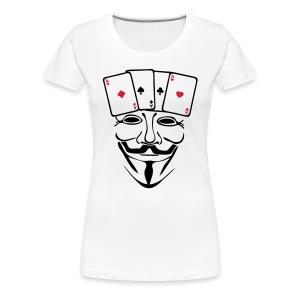 Anonymous carré d'AS - T-shirt Premium Femme