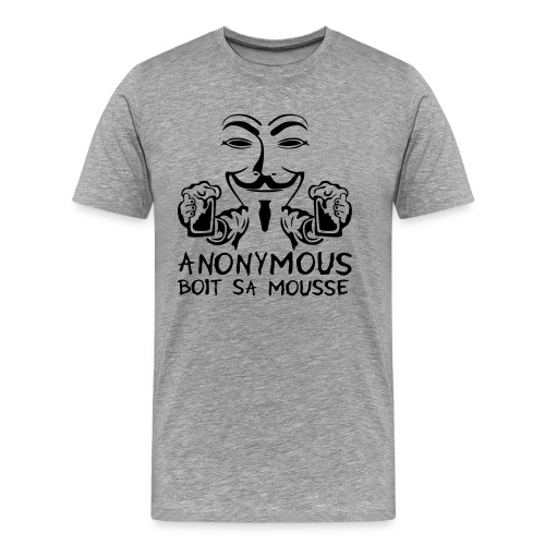 Anonymous boit sa mousse - T-shirt Premium Homme