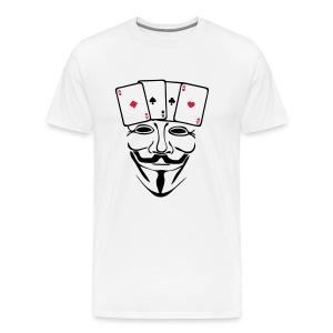 Anonymous carré d'AS - T-shirt Premium Homme