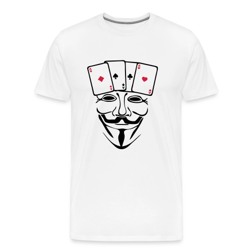 Anonymous carré d'AS - T-shirt Premium Homme